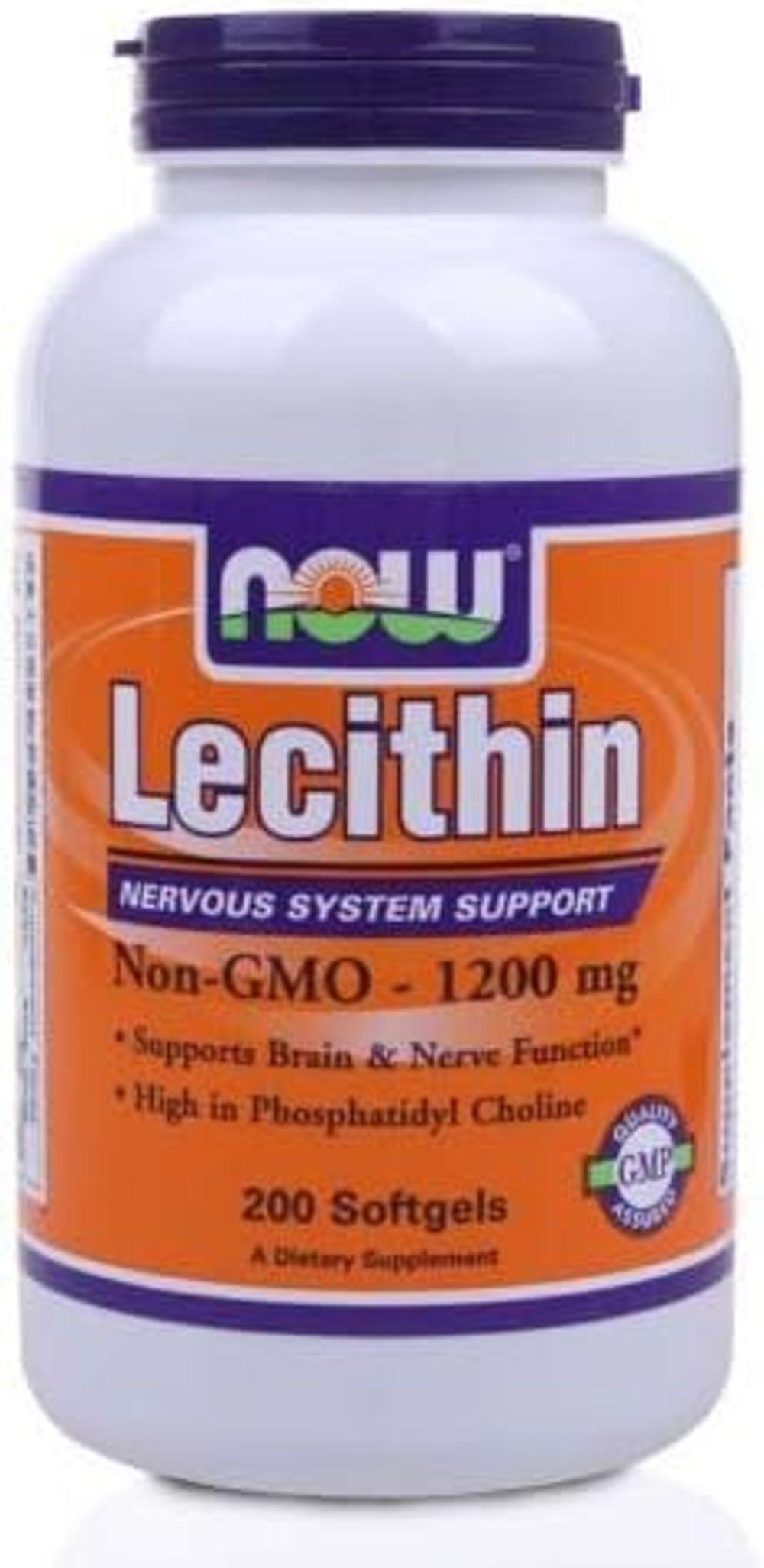 Lecithin 19 Grain 1200mg 200 Gels, NOW Foods