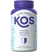 KOS Immune Defense Supplement with EpiCor - Immunity Support Pills with Pure Elderberry, Lion's M...