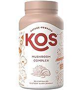 KOS Organic Mushroom Complex - High Potency Immunity Enhancing Mushroom Supplement Blend (Cordyce...