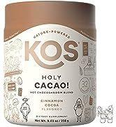 KOS Holy Cacao! - Delicious Vegan, Organic Mushroom Hot Chocolate - Amazing Cinnamon Cocoa Flavor...