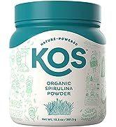 KOS Organic Spirulina Powder - Pure Non-Irradiated Blue-Green Spirulina Powder - USDA Organic Imm...
