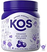 KOS Organic Açaí Juice Powder - Natural Antioxidant Superfood Açaí Juice Powder - Polyphenol Abun...