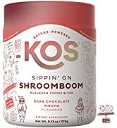 KOS Sippin' on Shroom Boom - Organic Mushroom Coffee Blend with Lion's Mane, Reishi, Cordyceps, T...