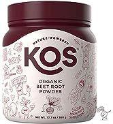 KOS Organic Beet Root Powder - Natural Nitric Oxide Boosting Beet Root Powder - USDA Organic, Sta...