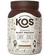 KOS Organic Plant Based Protein Powder – Raw Organic Vegan Protein Blend, 2.6 Pound, 30 Servings ...