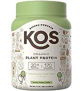 KOS Organic Plant Based Protein Powder - Chocolate Chip Mint Protein Powder - Gluten, Dairy & Soy...