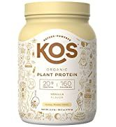 KOS Organic Plant Based Protein Powder - Vanilla Protein Powder - Gluten, Dairy & Soy Free Vegan ...
