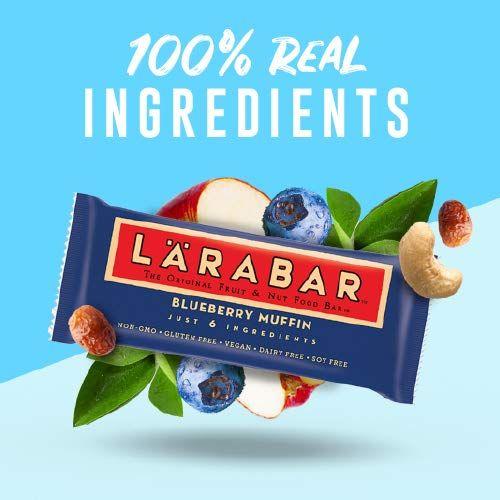 Larabar Bluberry Muffin, Gluten Free Vegan Fruit & Nut Bar, 1.6 oz Bars, 16 Ct
