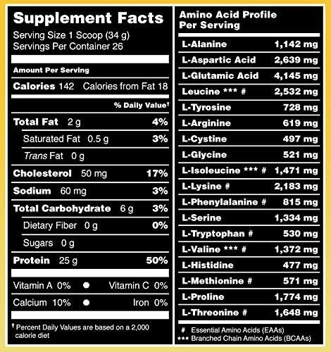 Amazing Muscle 100% Whey Protein Powder *Advanced Formula with Whey Protein Isolate as a Primary Ingredient Along with Ultra Filtered Whey Protein Concentrate (Banana, 2 Pound)