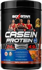 Casein Protein Powder | Six Star Elite Casein Protein Powder | Slow-Digesting Micellar Casein Protein Powder for Muscle Gain | Triple Chocolate Protein Powder, 2 lbs (26 Servings) (package may vary)