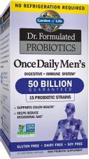 Garden of Life Probiotics for Men and Adults - Dr. Formulated Once Daily Men's Probiotics 50 Billion CFU, Digestive Health Daily Probiotic for Constipation Relief with Organic Prebiotic, 30 Count