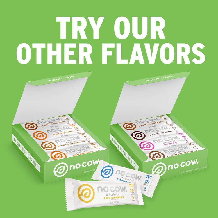 No Cow Protein Bars, 12 Flavor Sampler Pack, 20g Plus Plant Based Vegan Protein, Keto Friendly, Low Sugar, Low Carb, Low Calorie, Gluten Free, Naturally Sweetened, Dairy Free, Non GMO, Kosher, 12 Pack