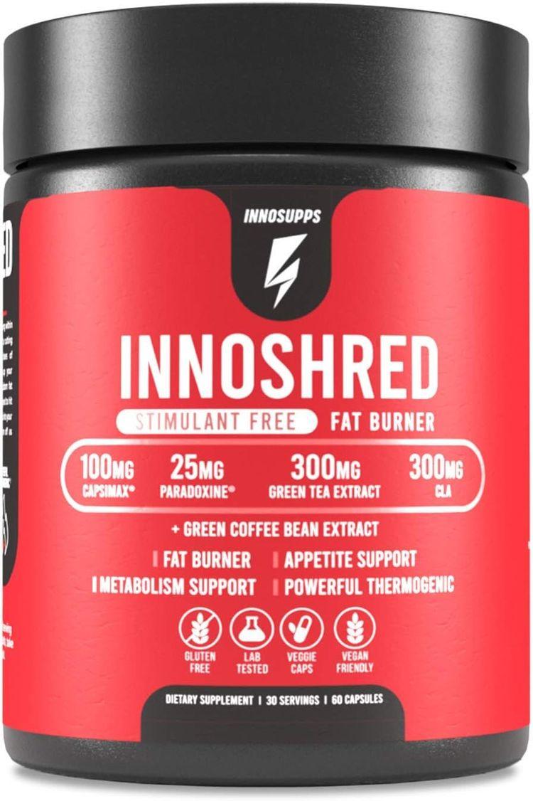 Inno Shred - Day Time Burner   Stimulant Free   100mg Capsimax, Grains of Paradise, Green Tea Extract (60 Veggie Capsules)   (Stimulant Free)