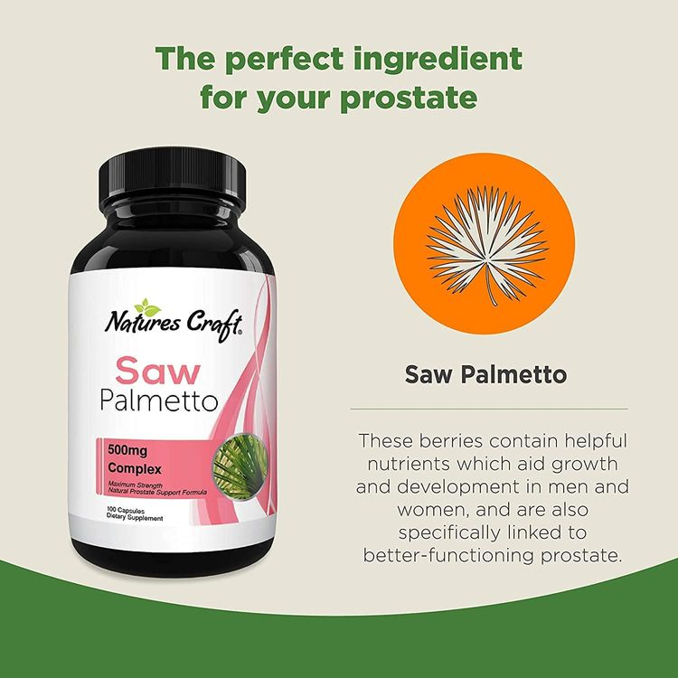 Saw Palmetto Capsules for Hair Loss - Saw Palmetto for Women and Men Hair Vitamins for Faster Hair Growth and Healthy Hair Supplement - Saw Palmetto Prostate Supplement for Prostate Health