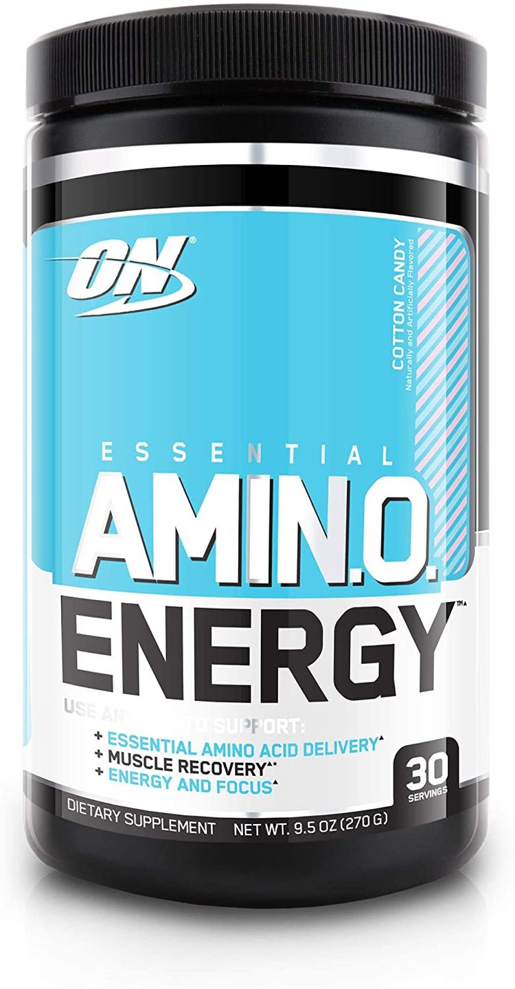 Optimum Nutrition Amino Energy - Pre Workout with Green Tea, BCAA, Amino Acids, Keto Friendly, Green Coffee Extract, Energy Powder - Cotton Candy, 30 Servings