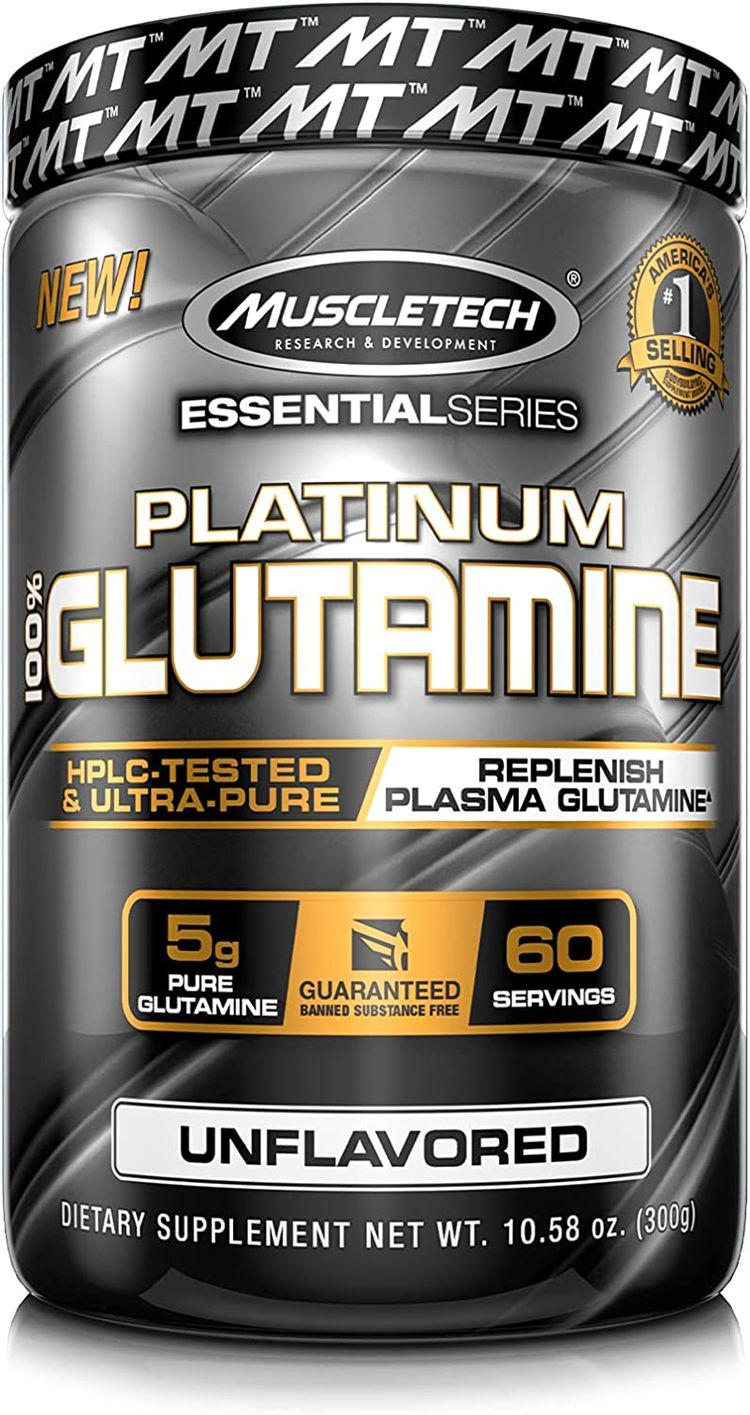 Glutamine Powder | MuscleTech 100% Pure L Glutamine Powder | Post Workout Recovery Drink | L-Glutamine Powder for Men & Women | Muscle Recovery | Unflavored (60 Servings)