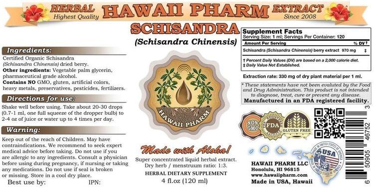 Schisandra Liquid Extract, Organic Schisandra (Schisandra Chinensis) Tincture 2 oz