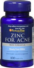 Zinc for Acne by Puritan's Pride a Mineral for Immune Sytem Health 100 Tablets