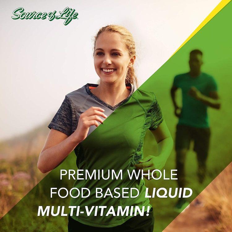 NaturesPlus Source of Life Liquid - 30 fl oz - Tropical Fruit Flavor - Wholefood Supplement, Energy Booster, Antioxidant - Vegetarian, Gluten-Free - 30 Servings