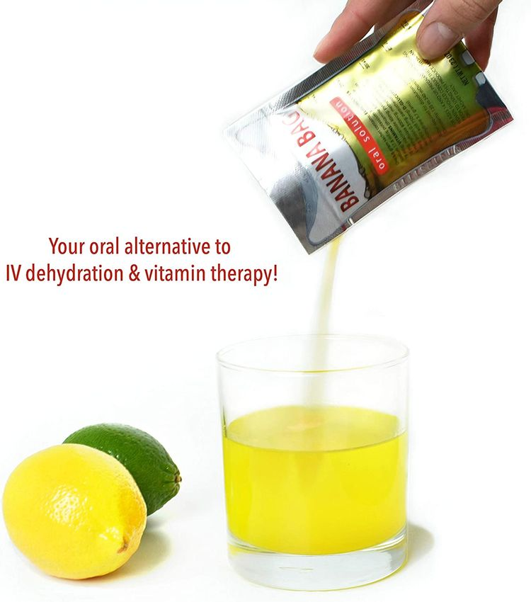 Banana Bag Oral Solution: Electrolyte & Vitamin Powder Packet for Reconstitution in Water to Drink(5)