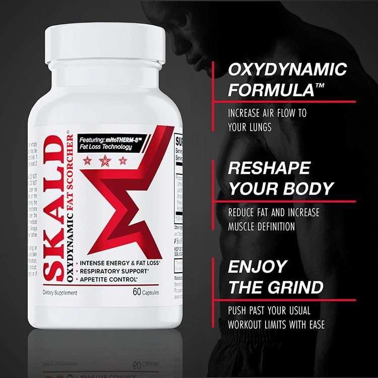 Skald Thermogenic Fat Burner for Men and Women - Oxydynamic Fat Scorcher for Weight Loss and All-Over Fat Burning Capsules - The Only Fat Burners with Respiratory Support