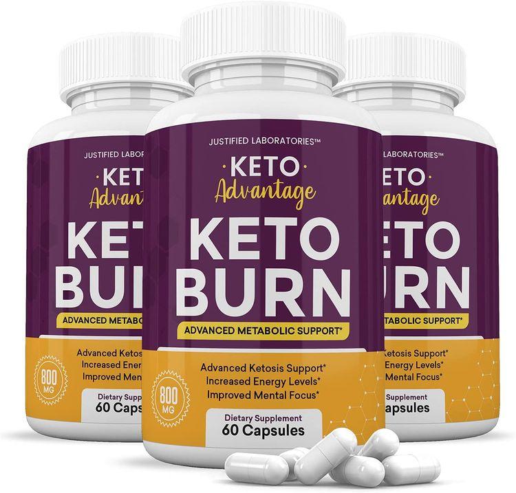 (3 Pack) Keto Advantage Keto Burn Pills Includes Apple Cider Vinegar goBHB Exogenous Ketones Advanced Ketogenic Supplement Ketosis Support for Men Women 180 Capsules
