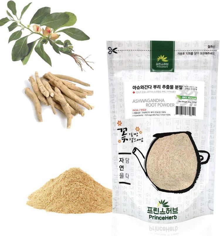 [Medicinal Herbal Powder] 100% Natural Ashwagandha Root Extract Powder 아슈와간다 뿌리 분말 (4oz)