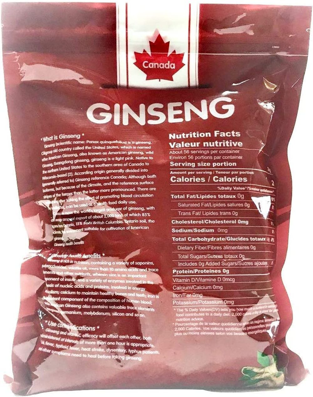 Peace Pavilion Semi-Wild Small Bubble Ginseng_Standard Bag Package 454g