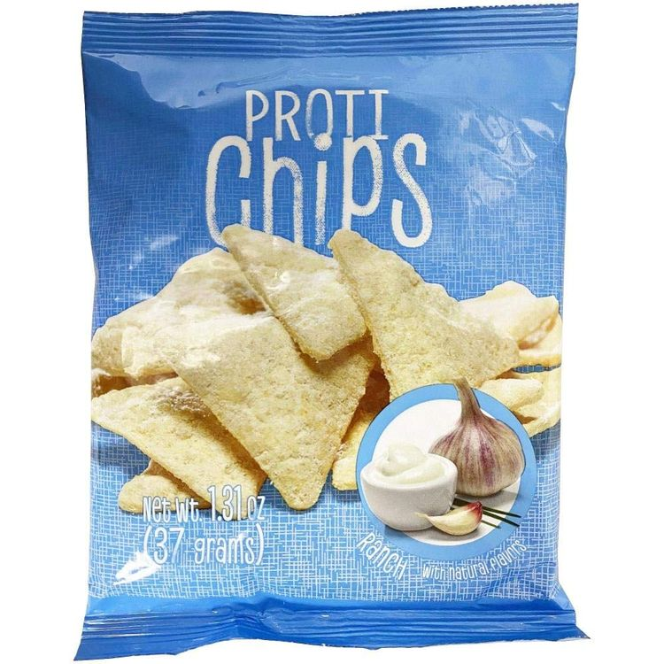 ProtiWise - Ranch Crunch Chips   7/Bags   Healthy Delicious Potato Snack   Gluten Free - High Protein - Low Calorie - Low Carb - High Fiber