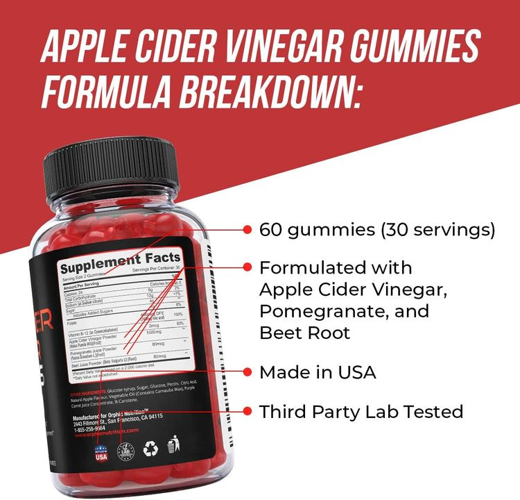 Apple Cider Vinegar Gummies - 1000mg - Formulated for Weight Loss, Energy Boost & Gut Health - Supports Digestion, Detox & Cleansing - Natural Acv Gummies W/ VIT B12, Beetroot & Pomegranate