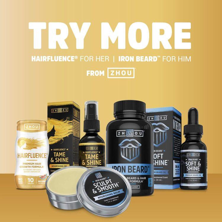 ZHOU Hairfluence   Premium Hair Growth Formula for Longer, Stronger, Healthier Hair   for All Hair Types   60 VegCaps