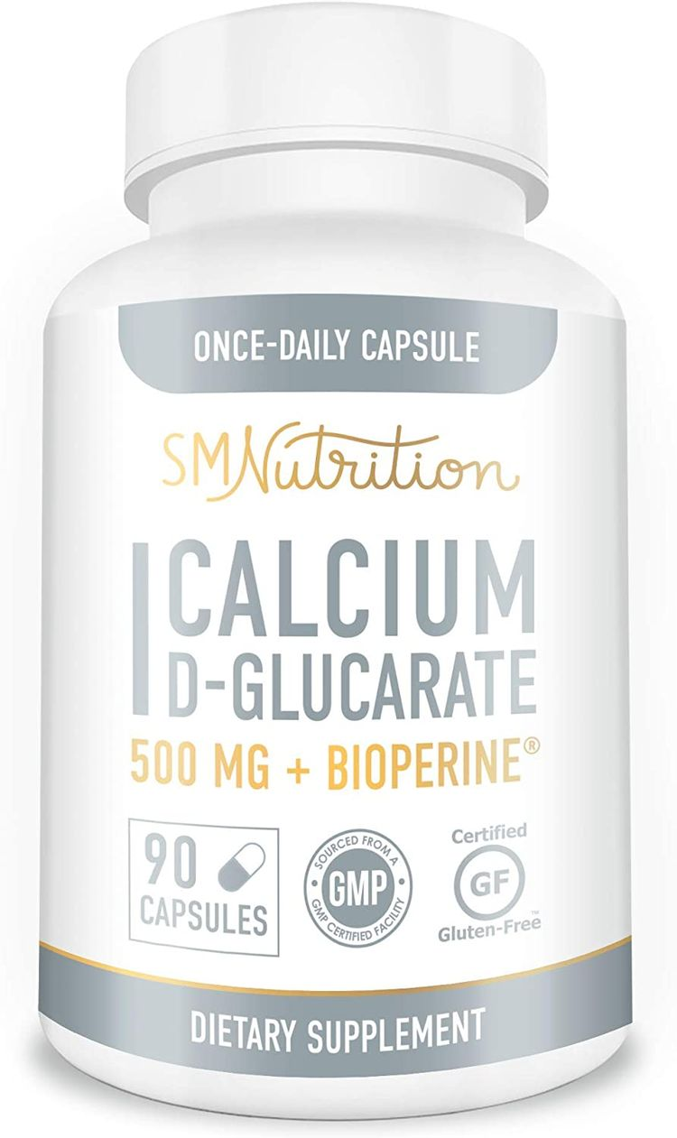 Calcium D-Glucarate 500mg 90 Vegetarian Capsules (3-Month Supply) CDG for Liver Detox & Cleanse, Weight Loss, Prostate, Metabolism, Menopause.* Non-GMO, Gluten-Free, Keto-Friendly