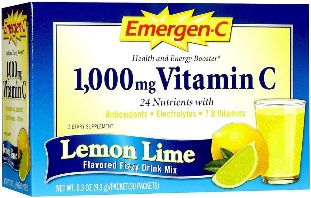 ALACER CORP, Emergen-C Health And Energy Booster Lemon Lime 30/Pk