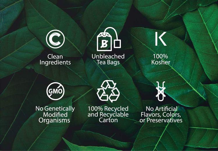 Buddha Teas Organic European Peppermint Tea   18 Bleach-Free Tea Bags in Each   Made in the USA   Caffeine-Free   No GMOs