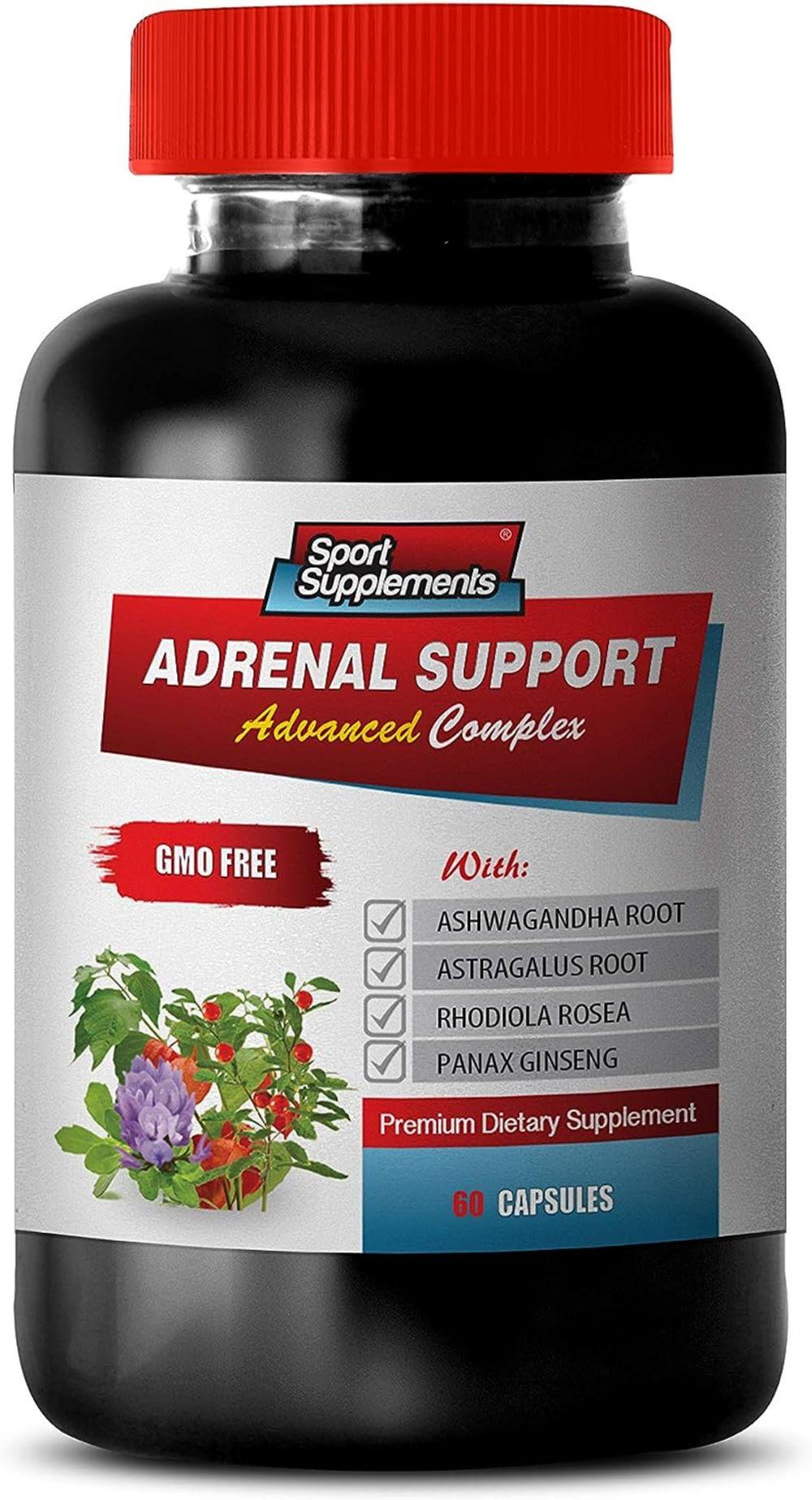 Brain Health Supplement rhodiola - Adrenal Support - GMO Free - Advanced Complex - Premium Dietary Supplement - panax Ginseng for Women - 1 Bottle 60 Capsules