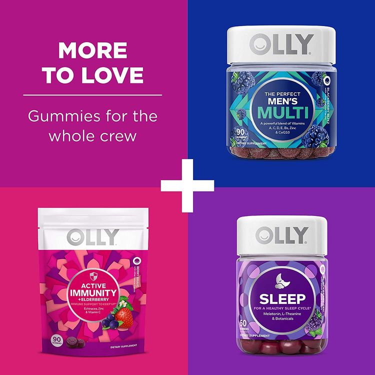 OLLY The Perfect Women's Multi and Kid's Multi +Probiotic Family Pack Gummies, 2 Count, Chewable Supplement