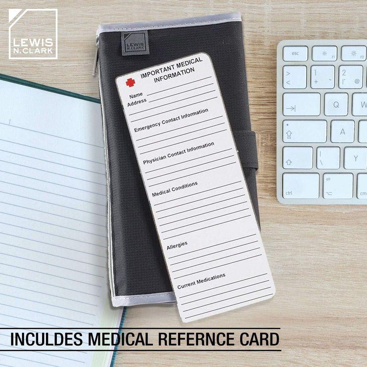 Lewis N. Clark AM/PM Folding Pill Organizer + Supplement Case for OTC Medicine