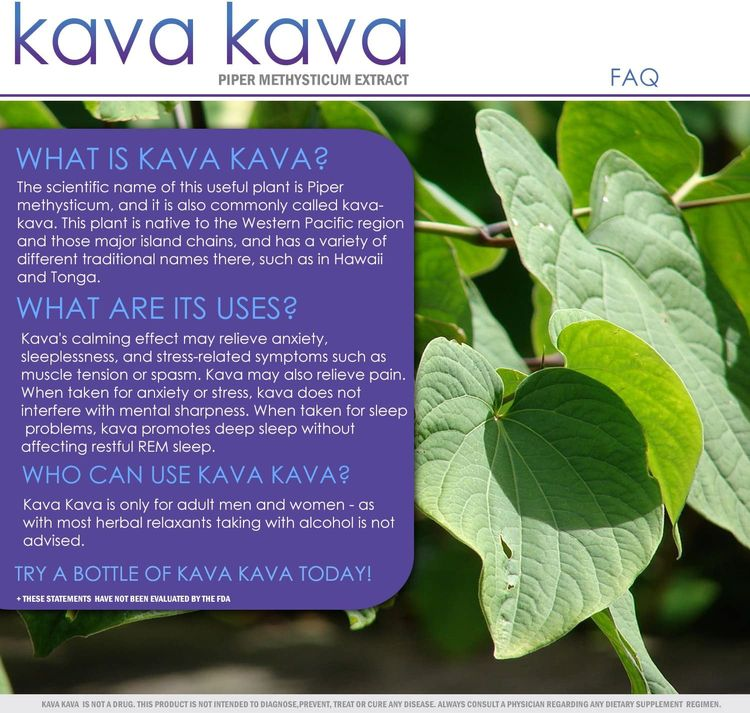 Kava Kava | 700mg Capsules | Stress Relief and Anxiety Supplement | Mental Calmness, Positive Mood | Piper Methysticum Extract | 30 Day Supply | 60 Capsules