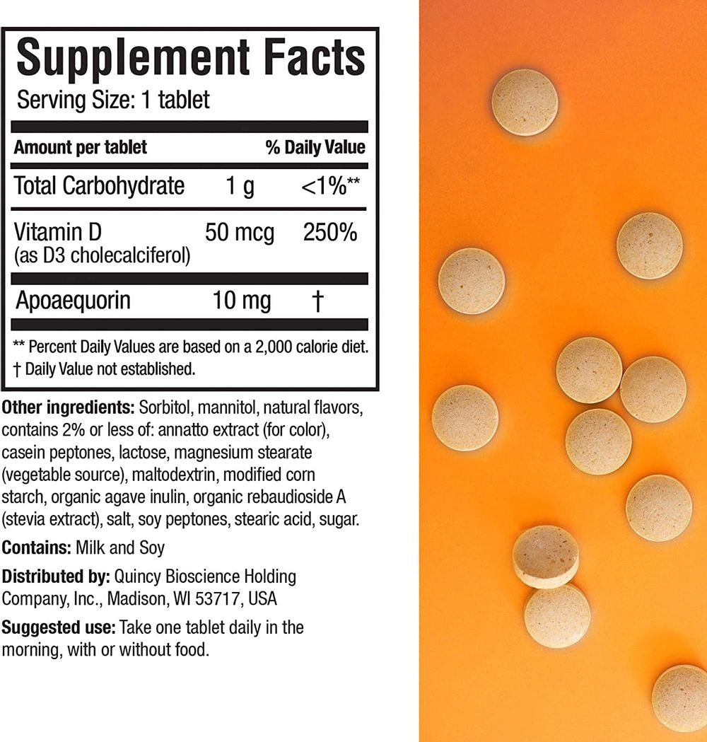 Prevagen Improves Memory - Regular Strength 10mg, 30 Chewables |Orange| with Apoaequorin & Vitamin D | Brain Supplement for Better Brain Health, Supports Healthy Brain Function and Clarity…