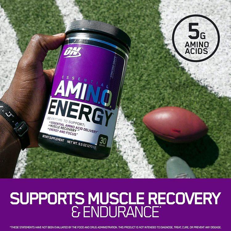 Optimum Nutrition Amino Energy - Pre Workout with Green Tea, BCAA, Amino Acids, Keto Friendly, Green Coffee Extract, Energy Powder - Watermelon, 65 Servings