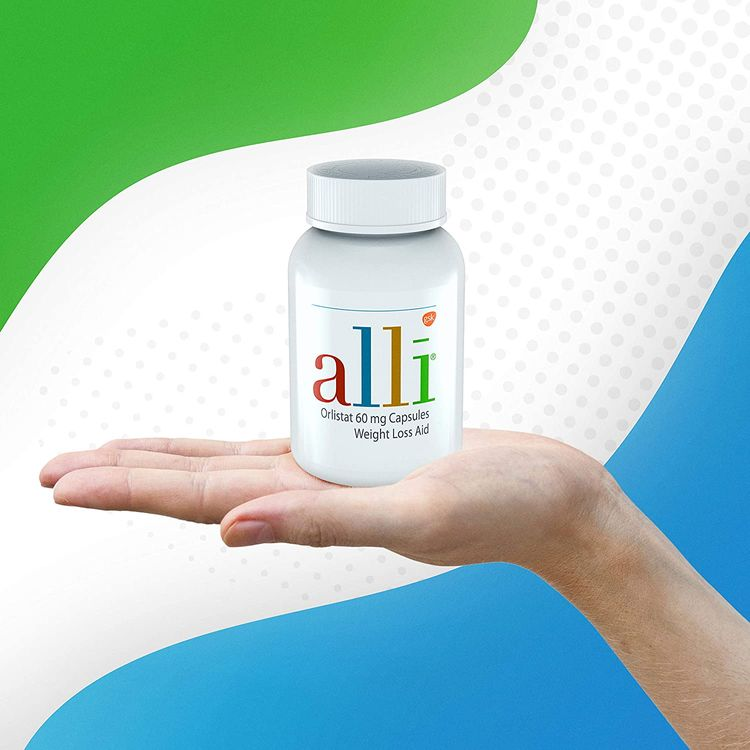 alli Weight Loss Diet Pills, Orlistat 60 mg Capsules, Non Prescription Weight Loss Aid, 120 Count Refill Pack
