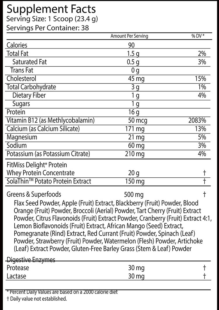 FitMiss Delight Protein Powder, Nutritional Shake, Chocolate Delight, 2 Pounds, 38 Servings