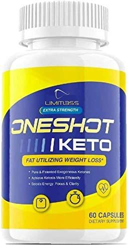 (Official) One Shot Keto, BHB Ketones, 1 Bottle Package, 30 Day Supply
