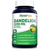 Dandelion Extract 2,250mg 200 Veggie Capsules (Non-GMO, Extract 5:1 & Gluten Free) Supports Ear, Nose and Throat Health* Supports Healthy Digestion*