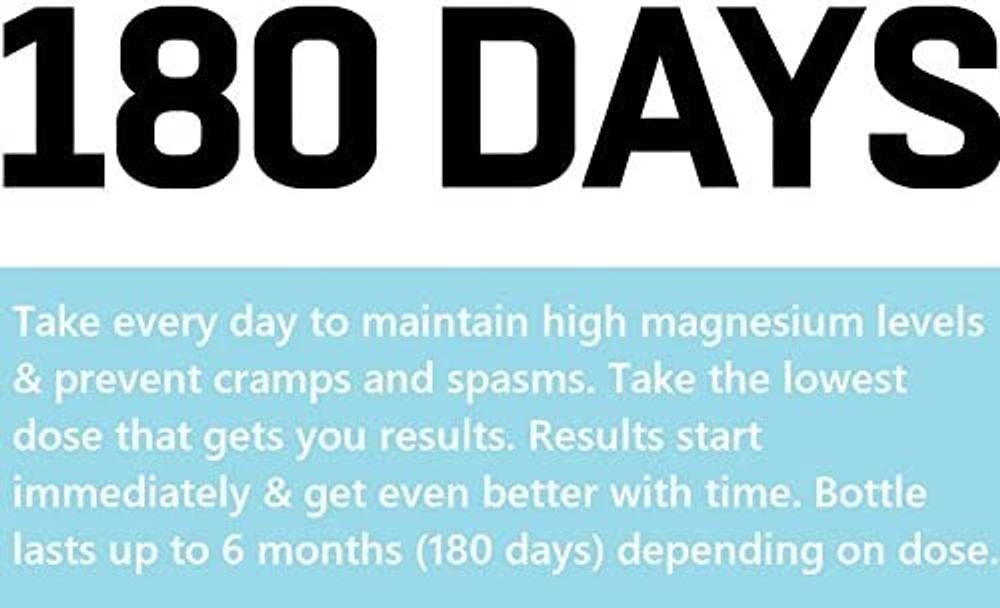 Cramp Defense® Magnesium for Leg Cramps, Muscle Cramps & Muscle Spasms. End Them Fast and Permanently. Organic Magnesium, Non-Laxative, NO Magnesium Oxide OR Herbs! Big 180 Capsule Bottle.