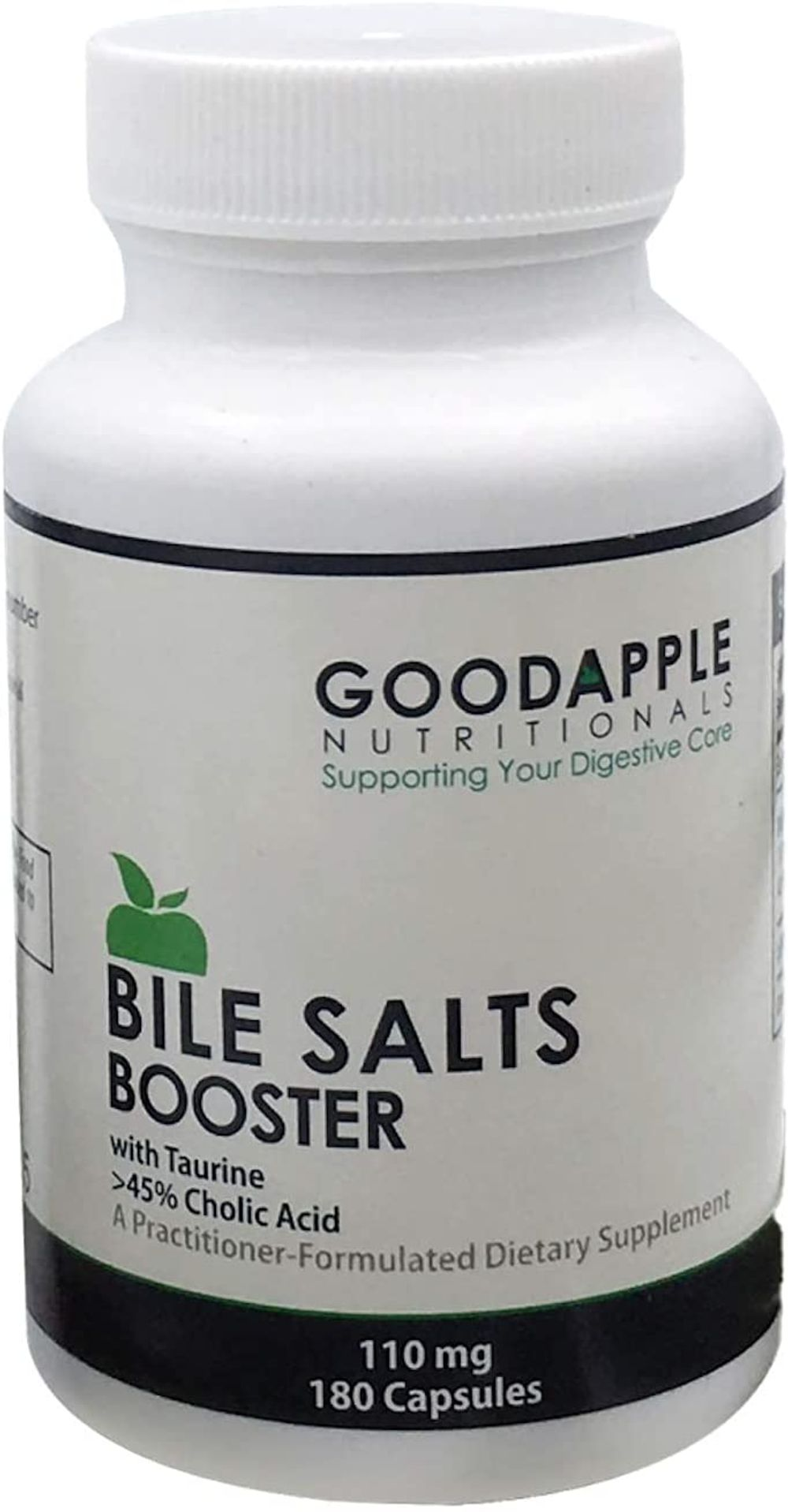 Bile Salts Booster for Gallbladder and No Gallbladder|Aids in Nutrient Absorption including Fat-Soluble Vitamins|Supports Gas & Bloating|Ox Bile Salts & Taurine|180 capsules|110mg|