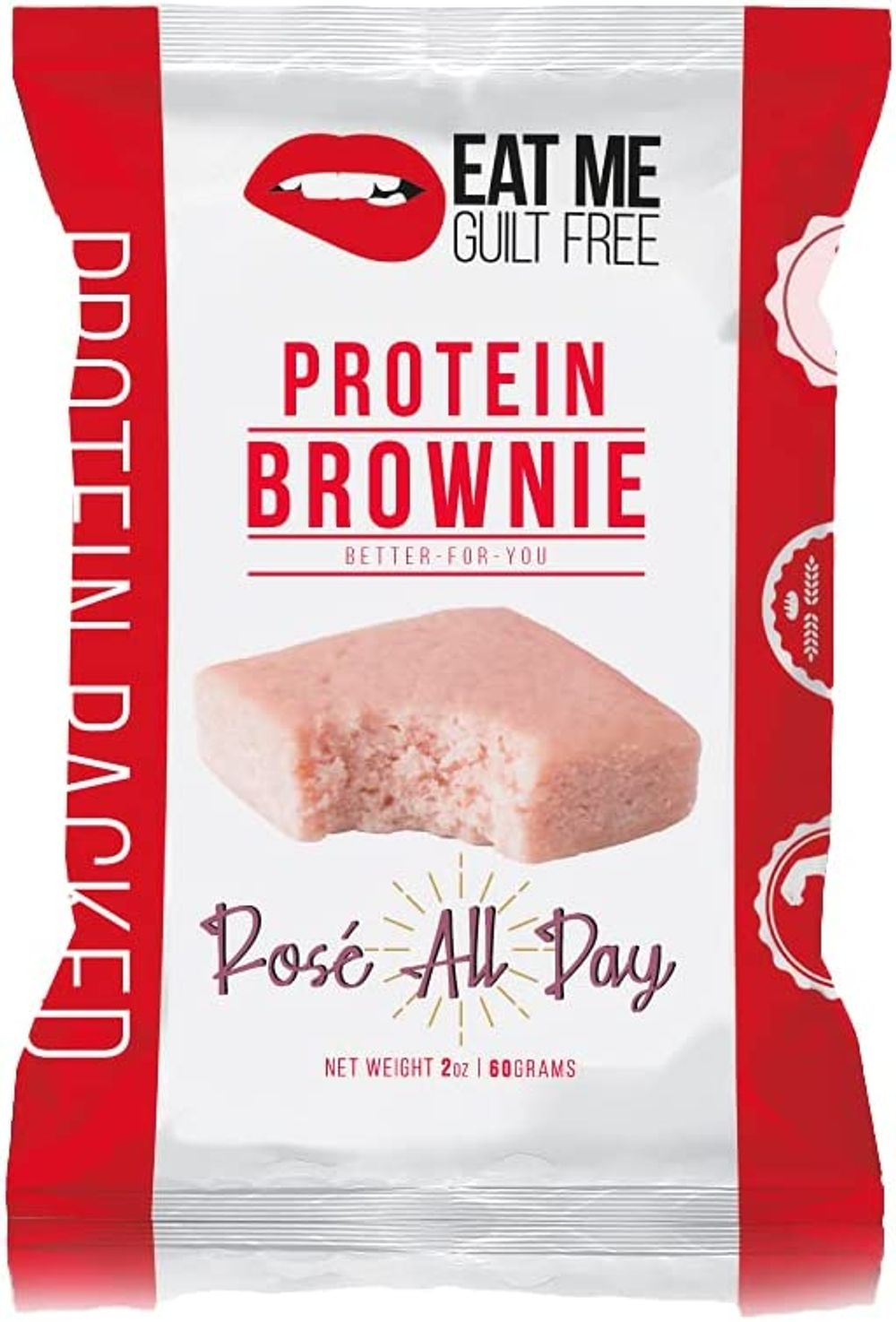 Eat Me Guilt Free Protein Blondie - Rose All Day (12 Pack) Low Carb Snack or Dessert, 14g Protein