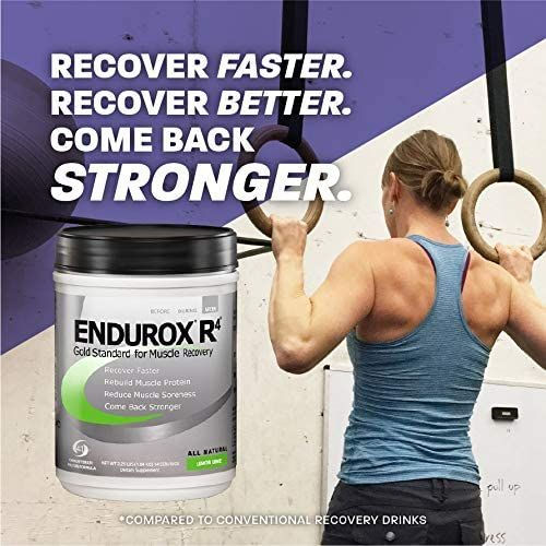 PacificHealth Endurox R4, All Natural Post Workout Recovery Drink Mix with Protein, Carbs, Electrolytes and Antioxidants for Superior Muscle Recovery, Net Wt. 4.56 lb., 28 serving (Chocolate)