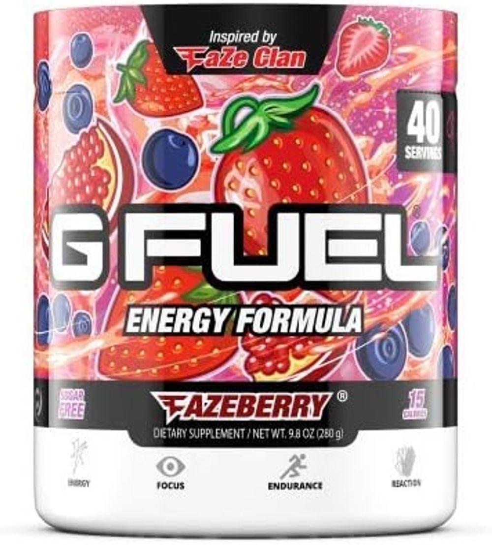 G Fuel FaZeberry Elite Energy Powder Inspired by Faze Clan, 9.8 oz (40 Servings)