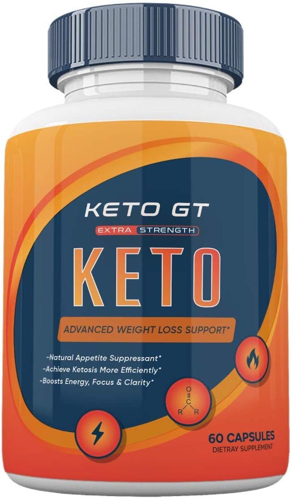 (Official) Keto GT Advanced Weight Loss Formula, Keto GT Pills, Keto BHB - 60 Capsules